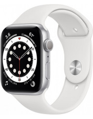 Apple Watch Series 6 40mm Silver Aluminium Case with White Sport Band (MG283UL/A)