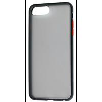 Чехол LikGus Maxshield матовый iPhone 7/8 Plus (черно-красный)