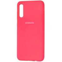 Чехол Silicone Case Samsung Galaxy A70 (ярко-розовый)