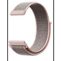 Ремешок нейлоновый Xiaomi Amazfit / Samsung 22mm (серо-розовый)
