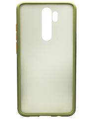Чехол LikGus Maxshield матовый Xiaomi Redmi Note 8 Pro (хаки)