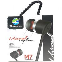 Вакуумные наушники-гарнитура Blue Spectrum M7 (Black)