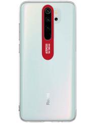 Чехол TPU Clear Flash Xiaomi Redmi Note 8 Pro (прозрачный + красный)