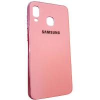 Чехол Glass Case Brand Samsung A40 (розовый)