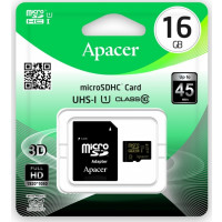 Карта памяти Apacer micro SD 16gb (10cl) + adapter
