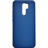Чехол Silicone Case Xiaomi Redmi 9 (синий)