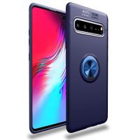 Чехол Samsung Galaxy S10 с подставкой и держателем на палец (синий)
