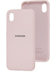 Чехол Silicone Case Samsung A01 core (пудра)