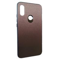 Чехол Glass Case Gradient Xiaomi Redmi 7 (серый+блестки)