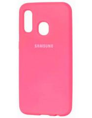 Чехол Silicone Case Samsung A40 (ярко-розовый)