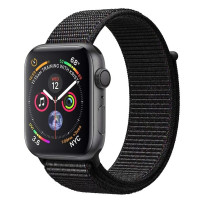 Apple Watch Series 4 40mm Space Gray Aluminum Case with Black Sport Loop (MU672)