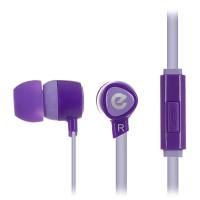 Вакуумные наушники-гарнитура ERGO VM-201 (фиолетовый)