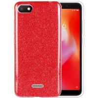 Силиконовый чехол Shine Xiaomi Redmi 6a (красный)