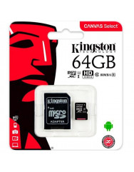 Карта памяти Kingston micro SD 64gb (10cl) + adapter