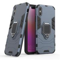 Чехол Armor + подставка iPhone X/XS (серый)