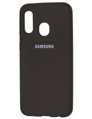Чехол Silicone Case Samsung A40 (черный)