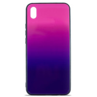 Чехол Glass Case Gradient Xiaomi Redmi 7a (Purple Barca)
