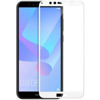 Стекло Huawei Y6-2018 (White 5d)