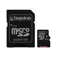 Карта памяти Kingston micro SD 128gb (10cl) 80 Mb/s + Adapter