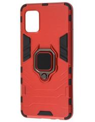 Чохол Armor + підставка Samsung Galaxy A41 (червоний)