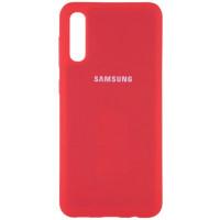 Чехол Silicone Case Samsung Galaxy A70 (красный)