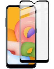 Стекло бронированное Samsung Galaxy A01 (5D Black)