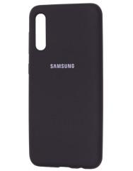Чехол Silicone Case Samsung Galaxy A70 (черный)
