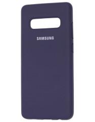 Чехол Silicone Case Samsung S10 (темно-синий)