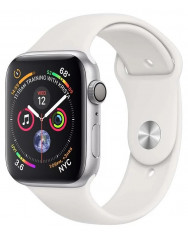 Apple Watch Series 4 40mm Silver Aluminum Case with White Sport Band (MU642)
