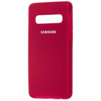 Чехол Silicone Case Samsung S10 Plus (бордовый)