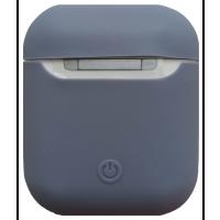 Чехол для Airpods силиконовый (светло-синий)