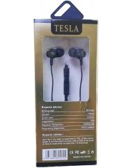 Вакуумные наушники-гарнитура TESLA (Black)