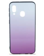 Чехол Glass Case Gradient Samsung Galaxy A40 (Light Pink)