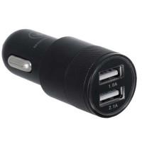 Автомобильное зарядное устройство Ergo ECC-221 2.1A 2xUSB Car Charger (черный)