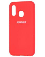 Чехол Silicone Case Samsung A40 (красный)
