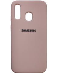 Чехол Silicone Case Samsung A40 (персик)