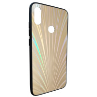 Чехол Glass Case Rainbow Xiaomi Redmi Note 7 (серебряный)