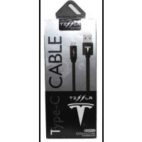 Кабель Tesla Micro USB 2.4A (черный)