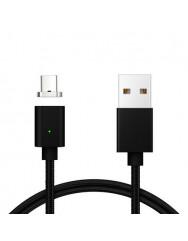Магнітний кабель Clip-On for Type-C (чорний) USB 2.0
