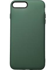 Чохол силіконовий матовий iPhone 7/8 Plus (зелено-чорний)
