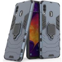 Чехол Armor + подставка Samsung Galaxy A20/A30 (серый)