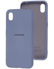 Чохол Silicone Case Samsung A01 Core (сірий)
