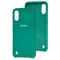 Чехол Silky Samsung Galaxy A01 (темно-зеленый)