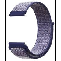 Ремешок нейлоновый Xiaomi Amazfit / Samsung 22mm (синий)