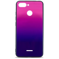 Чехол Glass Case Gradient Xiaomi Redmi 6 (Purple Barca)