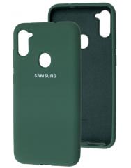 Чехол Silicone Case Samsung Galaxy A11 / M11 (темно-зеленый)