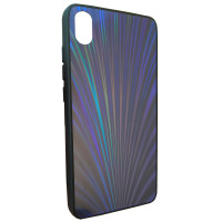 Чехол Glass Case Rainbow Xiaomi Redmi 7a (синий)