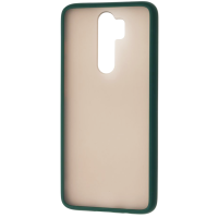 Чехол LikGus Maxshield матовый Xiaomi Redmi Note 8 Pro (темно-зеленый)
