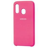 Чехол Silky Samsung Galaxy A40 (ярко-розовый)