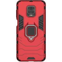 Чехол Armor + подставка Xiaomi Redmi Note 9 Pro/Note 9s (красный)